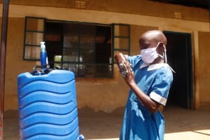 The Water Project: St. Benedict Emutetemo Primary School -  Handwashing Session