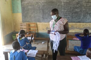 The Water Project: St. Benedict Emutetemo Primary School -  Issuing Of Masks
