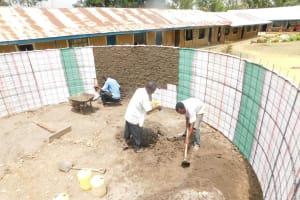 The Water Project: St. Benedict Emutetemo Primary School -  Plastering The Walls