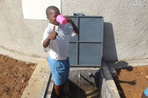 The Water Project: St. Benedict Emutetemo Primary School -  Quenching Thirst