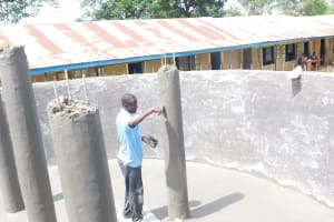The Water Project: St. Benedict Emutetemo Primary School -  Setting Up Of Pillars