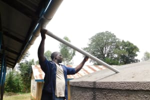 The Water Project: St. Benedict Emutetemo Primary School -  Setting Up Of Gutter System