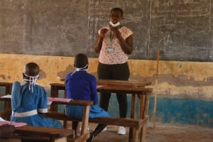 The Water Project: St. Benedict Emutetemo Primary School -  Trainer Jacky In Action