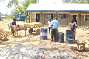 The Water Project: St. Benedict Emutetemo Primary School -  Water By Donkey Cart From A Community Member