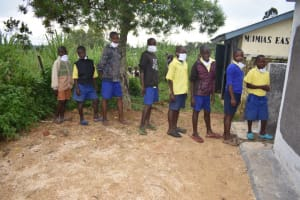 The Water Project: Emachina Primary School -  Boys At V I P Latrine