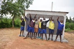 The Water Project: Emachina Primary School -  Boys At Their V I P Latrine