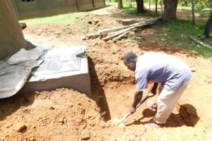 The Water Project: Emachina Primary School -  Construction Of Drainage