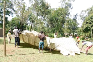 The Water Project: Emachina Primary School -  Construction Of Rain Tank