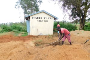 The Water Project: Emachina Primary School -  Digging Of Pit Latrine