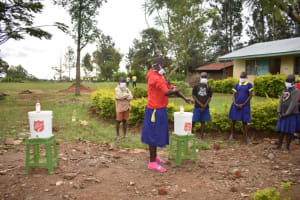 The Water Project: Emachina Primary School -  Hand Washing Sesssion