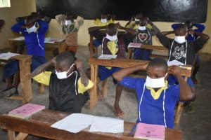 The Water Project: Emachina Primary School -  Putting On Masks
