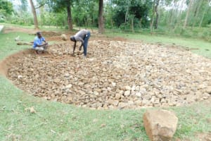 The Water Project: Emachina Primary School -  Setting Up Of Foundation