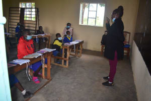 The Water Project: Emachina Primary School -  Trainer Joyce In Action
