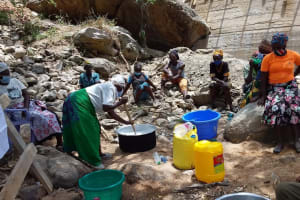 The Water Project: Lema Community A -  Mixing Soap