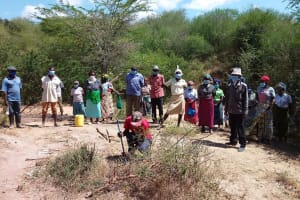 The Water Project: Lema Community A -  People At The Training