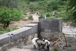 The Water Project: Lema Community A -  Finalizing The Area Around The Well