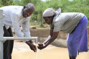 The Water Project: Lema Community A -  Getting Water At The Well