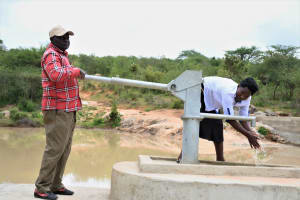 The Water Project: Lema Community A -  Pumping The Well