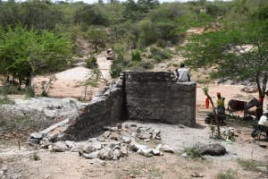The Water Project: Lema Community A -  Well Construction Progress