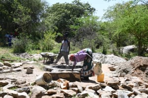 The Water Project: Lema Community A -  Well Foundation Construction