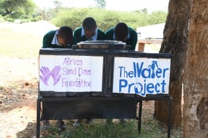The Water Project: Mung'alu Primary School -  Handwashing Stations