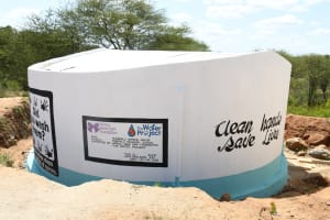 The Water Project: Mung'alu Primary School -  Painted Tank