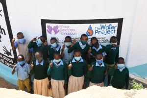 The Water Project: Mung'alu Primary School -  Thumbs Up