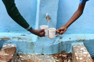 The Water Project: Kalatine Primary School -  Filling Up At The Tank