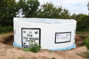 The Water Project: Kalatine Primary School -  Painted Tank