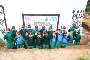The Water Project: Kalatine Primary School -  Students At The Tank