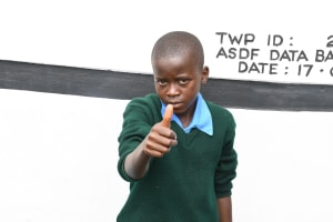 The Water Project: Kalatine Primary School -  Thumbs Up For The New Tank