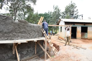 The Water Project: Mukuku Mixed Secondary School -  Artisan Works On Tank Walls