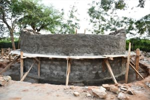 The Water Project: Mukuku Mixed Secondary School -  Building Up The Tank Walls