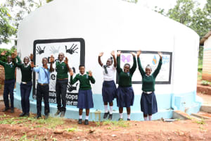 The Water Project: Mukuku Mixed Secondary School -  Celebrating At The Tank