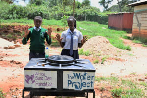 The Water Project: Mukuku Mixed Secondary School -  Clean Hands At The New Handwashing Station