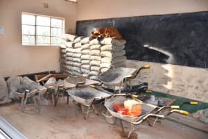 The Water Project: Mukuku Mixed Secondary School -  Construction Materials