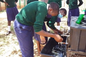 The Water Project: Mukuku Mixed Secondary School -  Handwashing