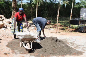 The Water Project: Mukuku Mixed Secondary School -  Hauling Cement