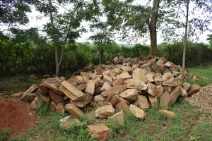 The Water Project: Mukuku Mixed Secondary School -  Large Rocks For Construction