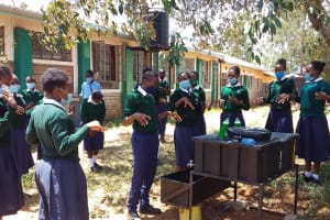 The Water Project: Mukuku Mixed Secondary School -  Learning The Proper Way To Wash Hands