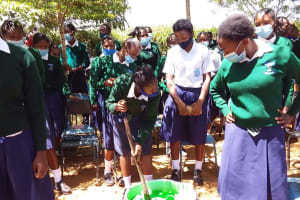 The Water Project: Mukuku Mixed Secondary School -  Mixing Soap