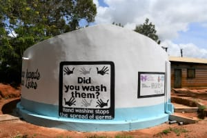 The Water Project: Mukuku Mixed Secondary School -  Painted Tank