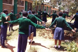 The Water Project: Mukuku Mixed Secondary School -  Practicing Physical Distancing