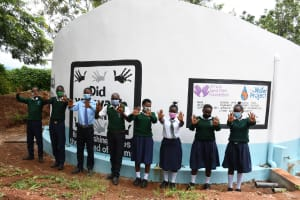 The Water Project: Mukuku Mixed Secondary School -  Students At The Tank