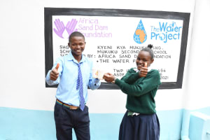 The Water Project: Mukuku Mixed Secondary School -  Thumbs Up