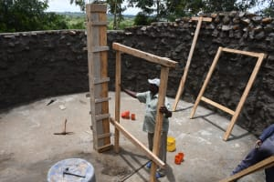 The Water Project: Mukuku Mixed Secondary School -  Working On The Internal Tank Column