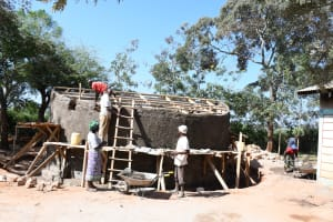 The Water Project: Mukuku Mixed Secondary School -  Working On The Tank Dome