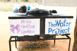 The Water Project: Mang'uu Primary School -  Handwashing Station