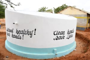 The Water Project: Mang'uu Primary School -  Painted Tank