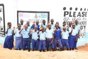 The Water Project: Mang'uu Primary School -  Students At The Tank